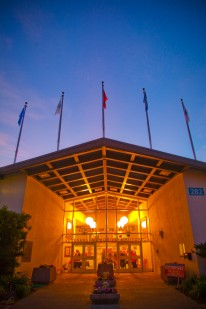 Sebastopol Center for the Arts at night
