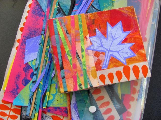 Printmaking examples from Dorit Elisha